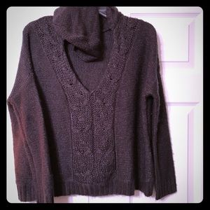 Jessica Simpson Crop Oversized Sweater Hoodie